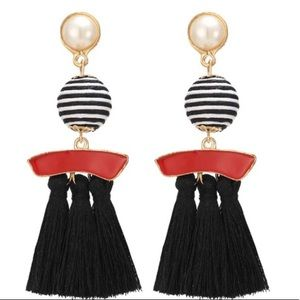 ❤️ Ball pendant tassel earrings ❤️